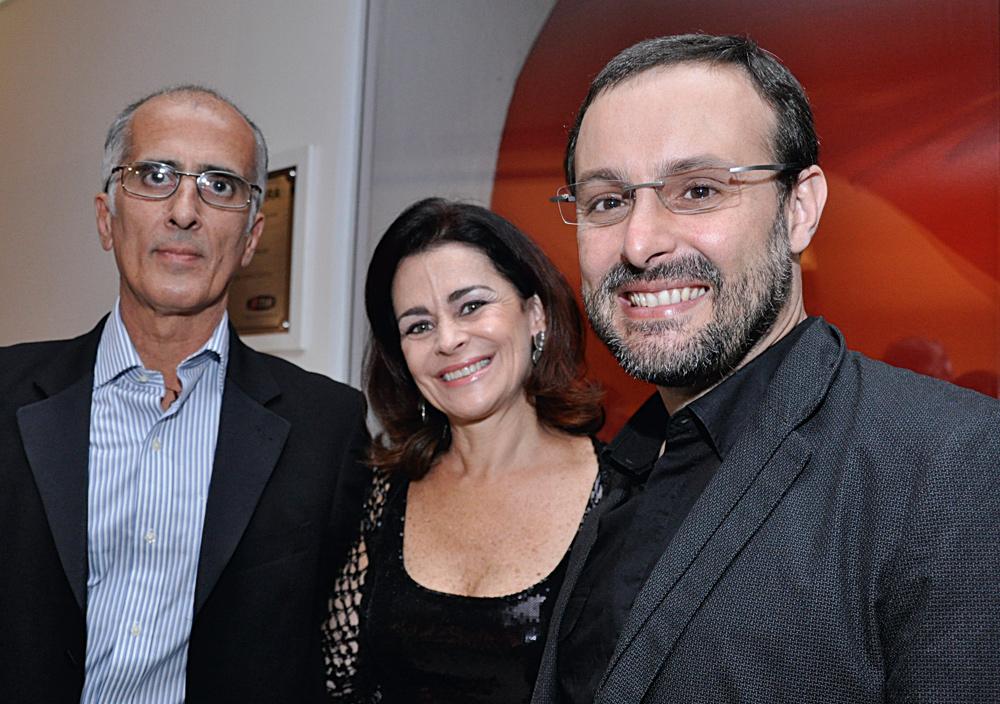 Rolan Mello, Luciene Albuquerque e Renato Sérgio de Lima