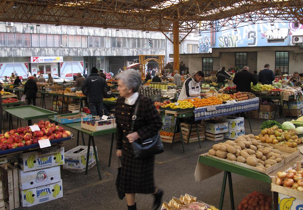O mercado central hoje, transformado em mercadinho de frutas