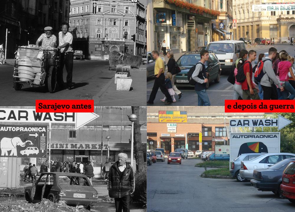 Sarajevo antes e depois