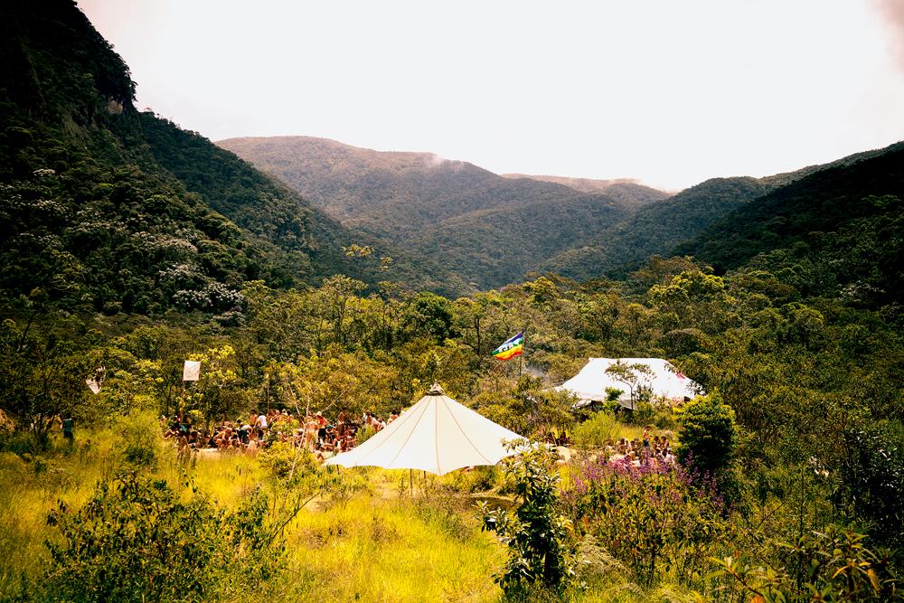 vista geral do acampamento