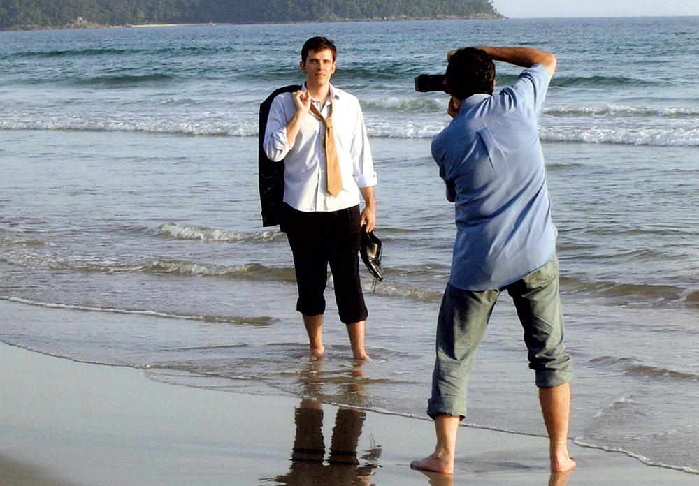 Durante sessão de fotos para a capa da revista Você S/A, em 2005