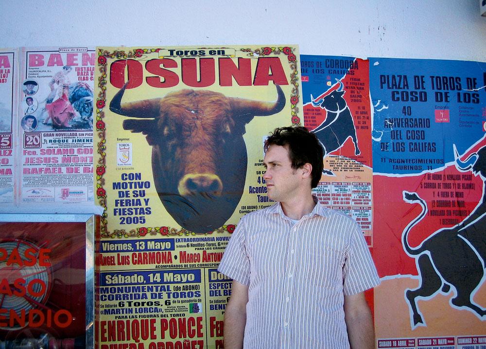 o autor em viagem à Espanha