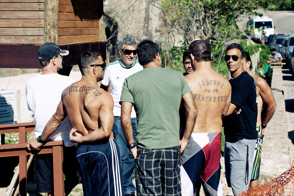 Carlos Burle e seus amigos