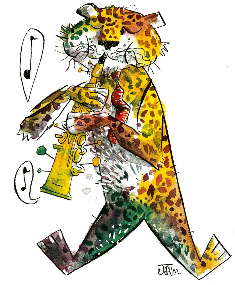 João Montanaro: 'Quis ter um amigo imaginário depois de ler Calvin e Haroldo, quando eu tinha uns 6 anos. O nome dele era algo como Arnaldo ou Aderbal. Não queria que fosse um tigre como o Haroldo, então saiu uma onça, mas depois foi mudando a forma. Tocava clarinete'