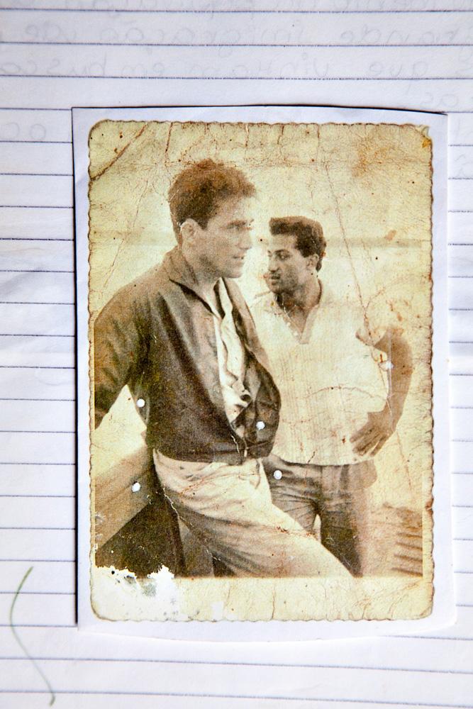 Touro com o amigo Pasqual Lima na década de 1970