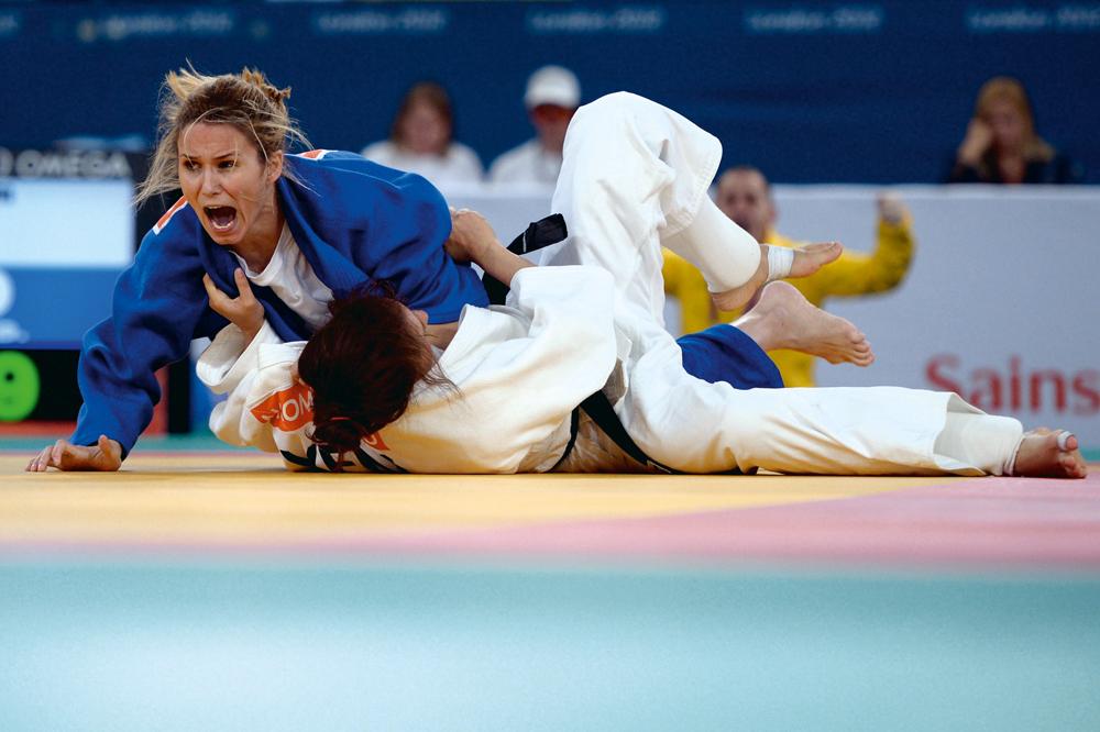 a judoca Daniele Bernardes, que trouxe uma medalha de bronze para o Brasil