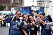 Gleysy, Jessica Ferreira, Karina Gomes e Jessica Alves, da seleção feminina