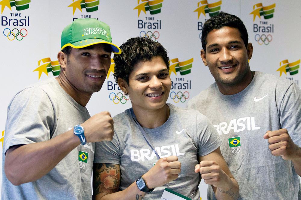 Esquiva Falcão, Adriana Araújo e Yamaguchi Falcão - Boxeadores medalhistas nos jogos de Londres
