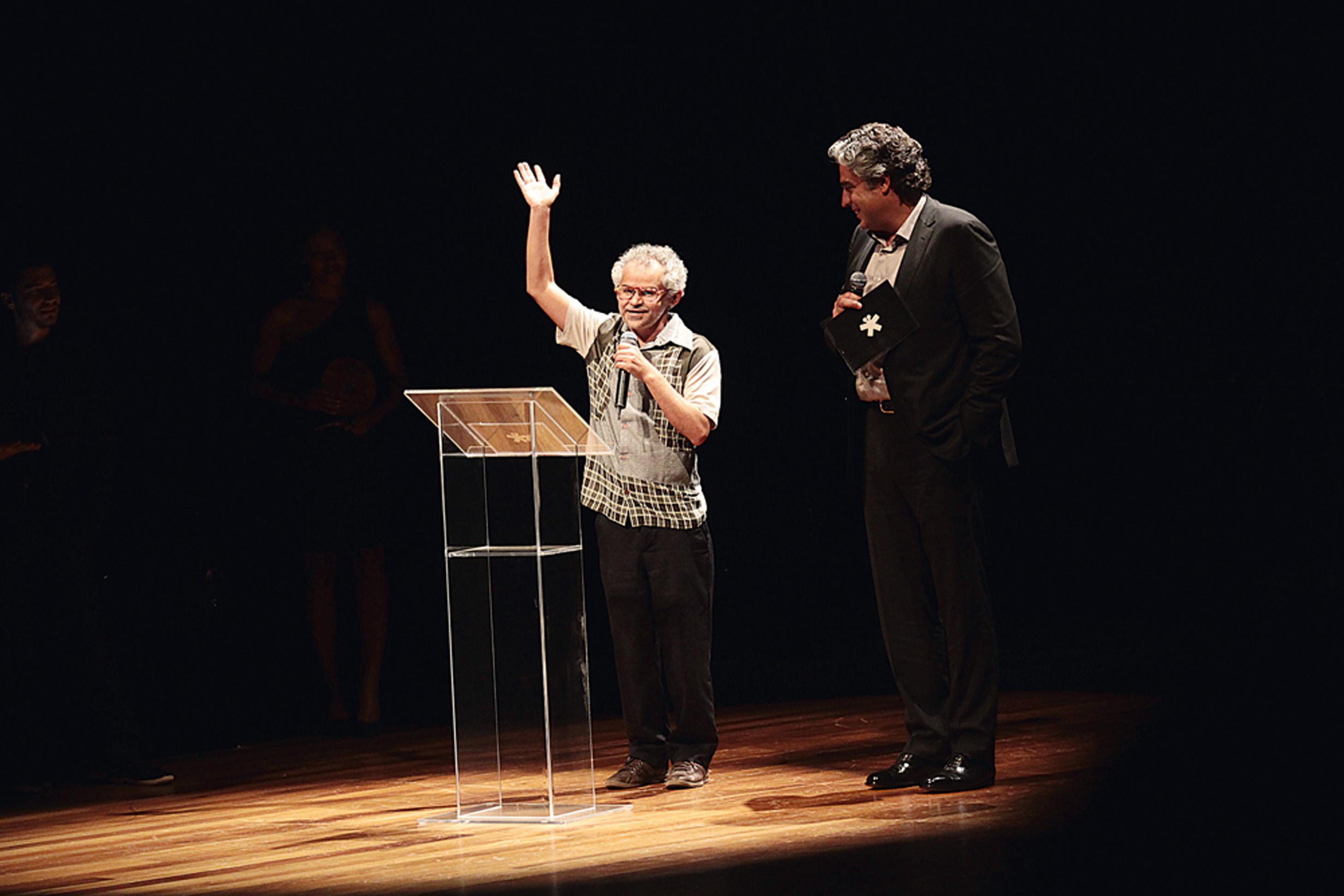 O ator Gero Camillo e Marcello Serpa