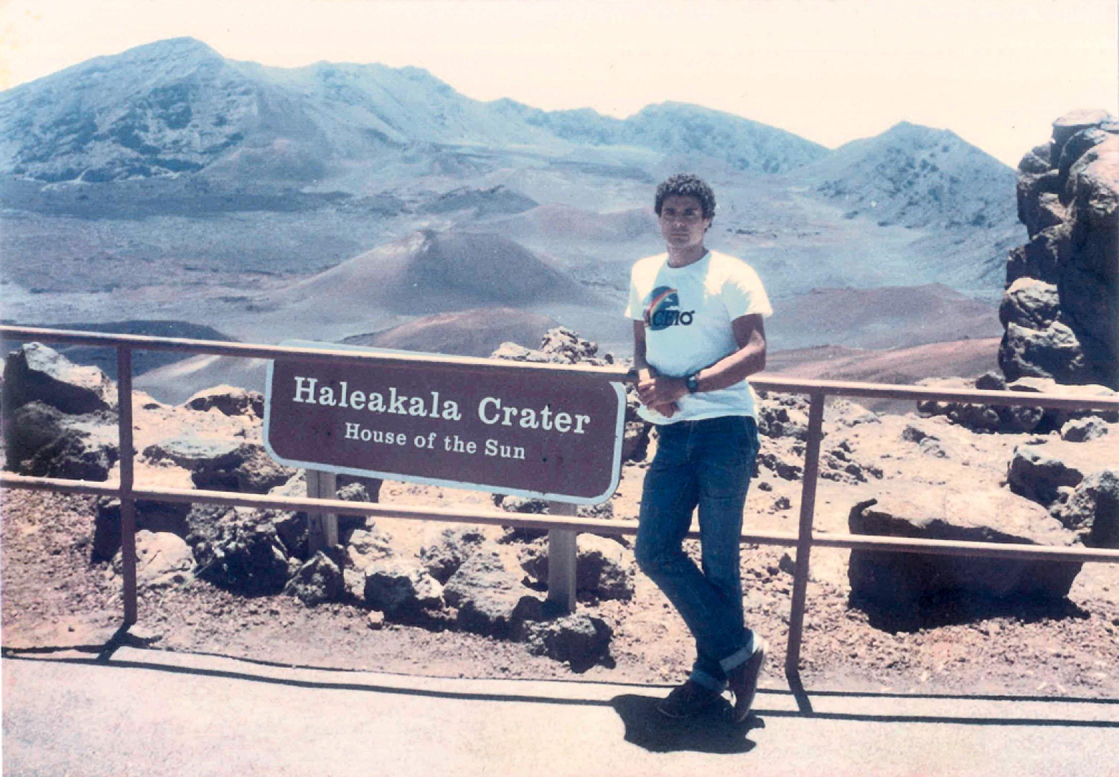 O executivo durante sua segunda viagem ao Havaí (1983)