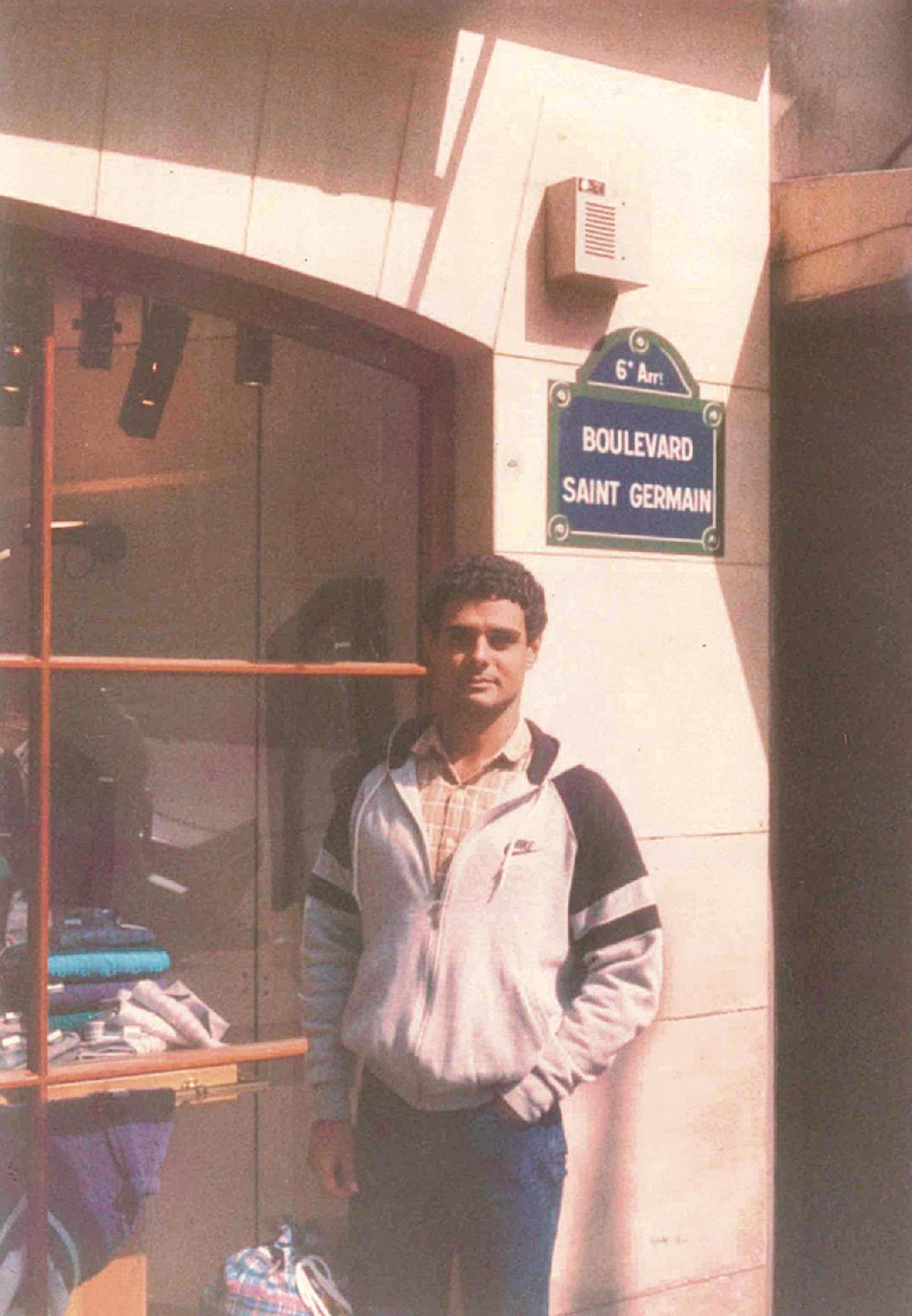 Guilherme no ano em que morou na França (1984)