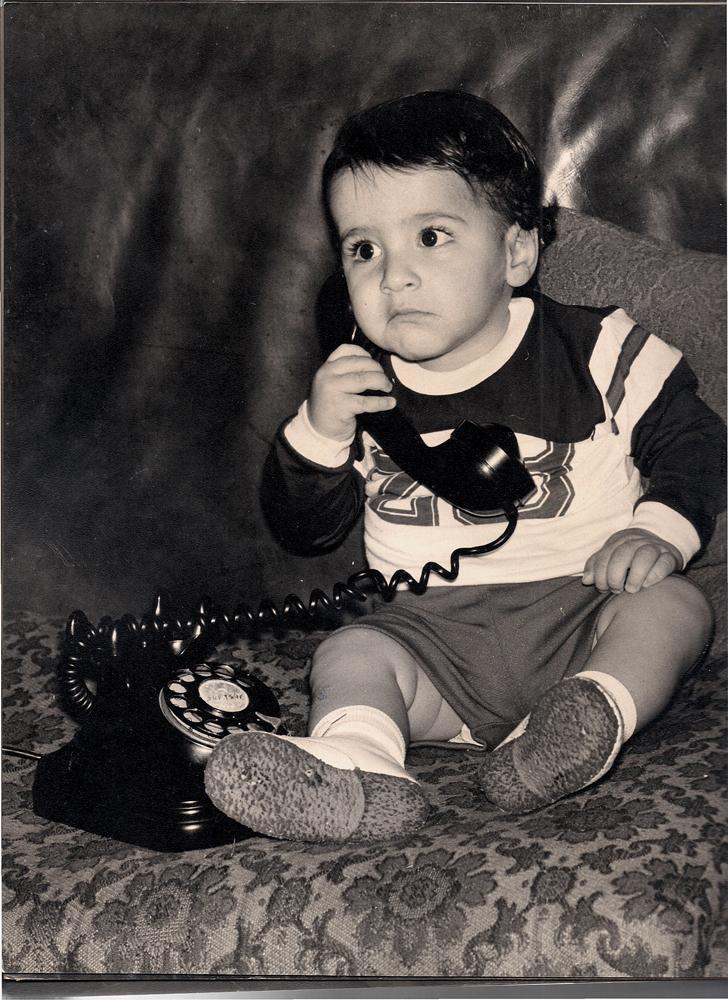 Em 1976, aos 2 anos