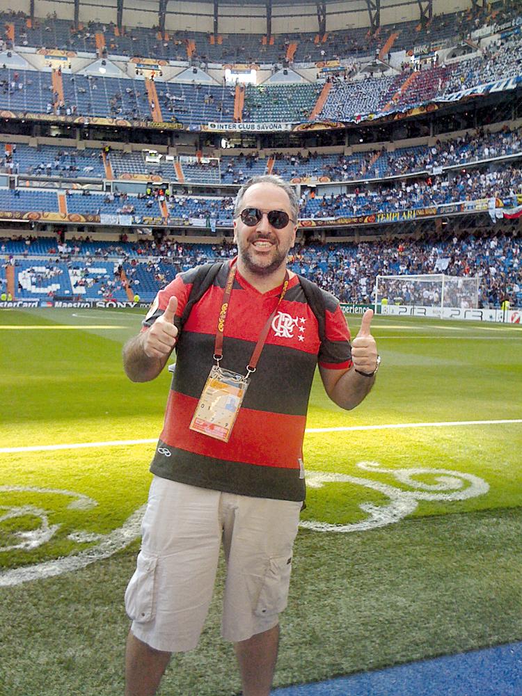 Tempos de Caldeirão do Huck: no estádio do Real Madrid, na final da Copa dos Campeões (2010)