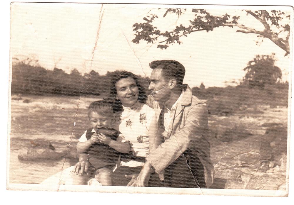 Bernardo com os pais, Achilles e Maria Mercês
