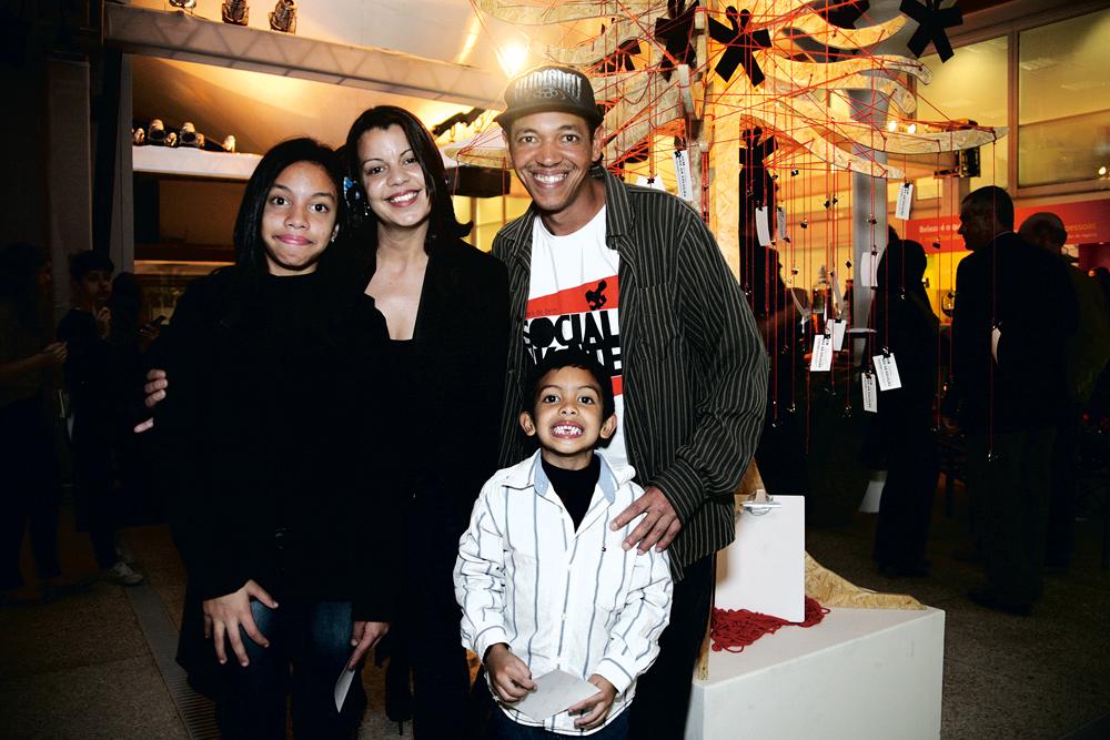 Sandro Testinha e família