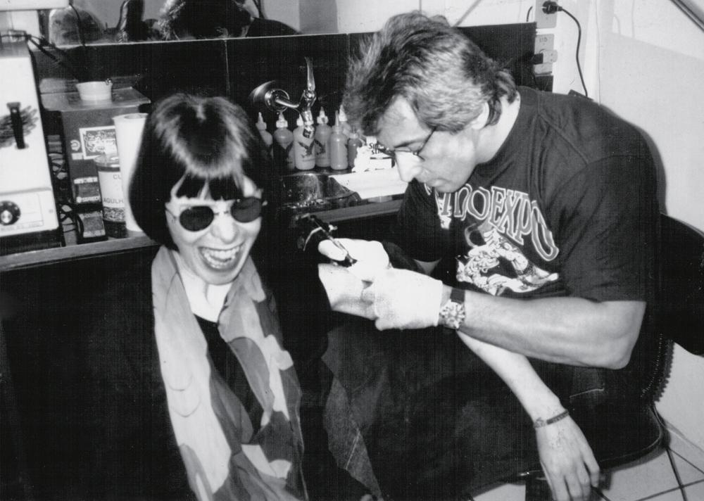 Tatuando Rita Lee durante os anos 80