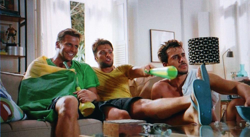 Havaianas nos anos 2010: Henri Castelli, Bruno Gagliasso e Julio Rocha