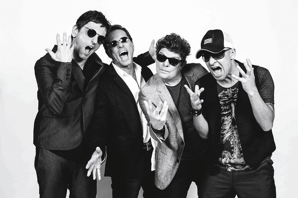O Titãs de 2013: Paulo, Tony Belloto, Branco Mello e Sérgio Britto
