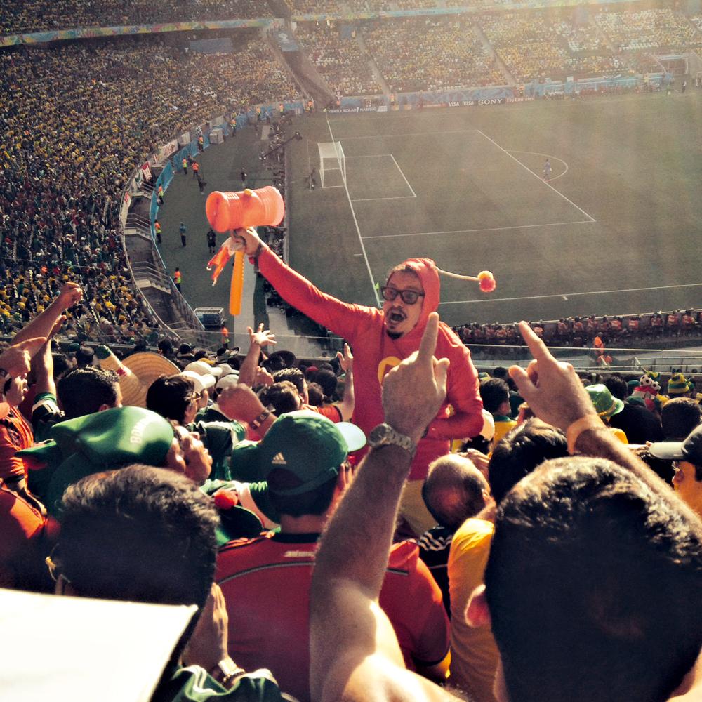A torcida na Arena Castelão, em Fortaleza, clicada pelo publicitário Christiano Bock