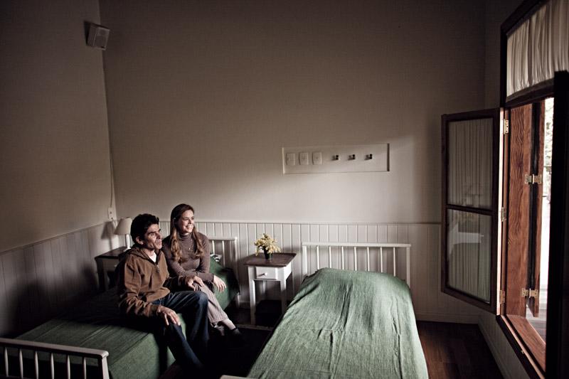 """Ela e o marido Peter Webb no quarto """"especial"""""""