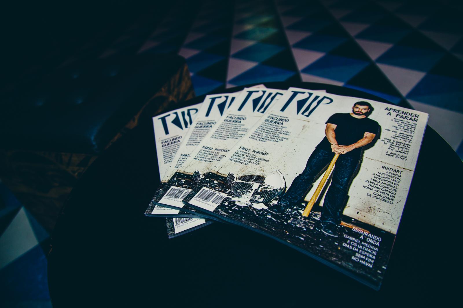 Uma das capas da edição de fevereiro é o empresário Facundo Guerra