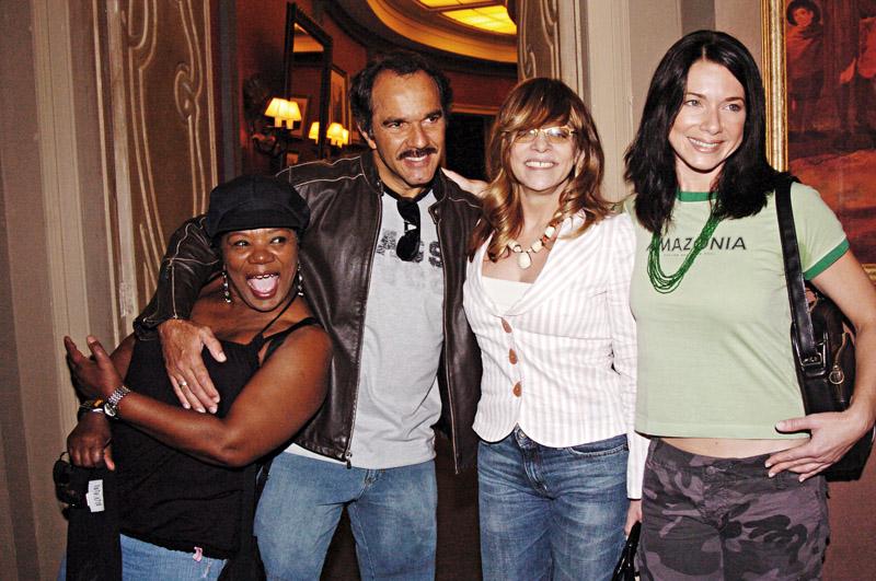 Com os atores Neusa Borges, Humberto Martins e Letícia Spiller