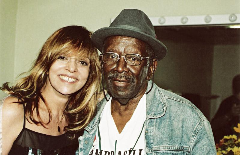 Com o cantor Jamelão
