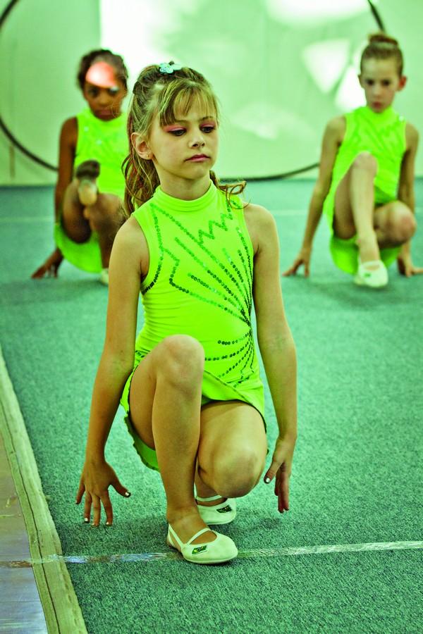 Na aula de ginástica