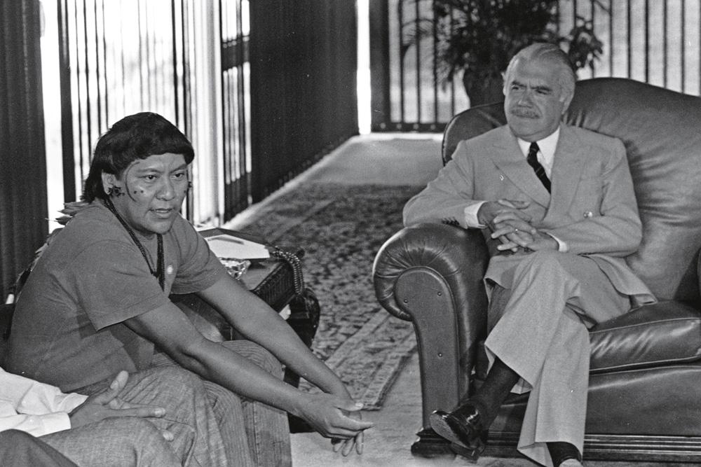 Davi com o então presidente José Sarney