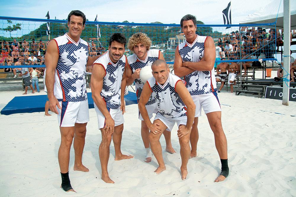 Eri com o time formado por Carlos Machado, Julio Rocha, Igor Marchesi e Marcelo Brou