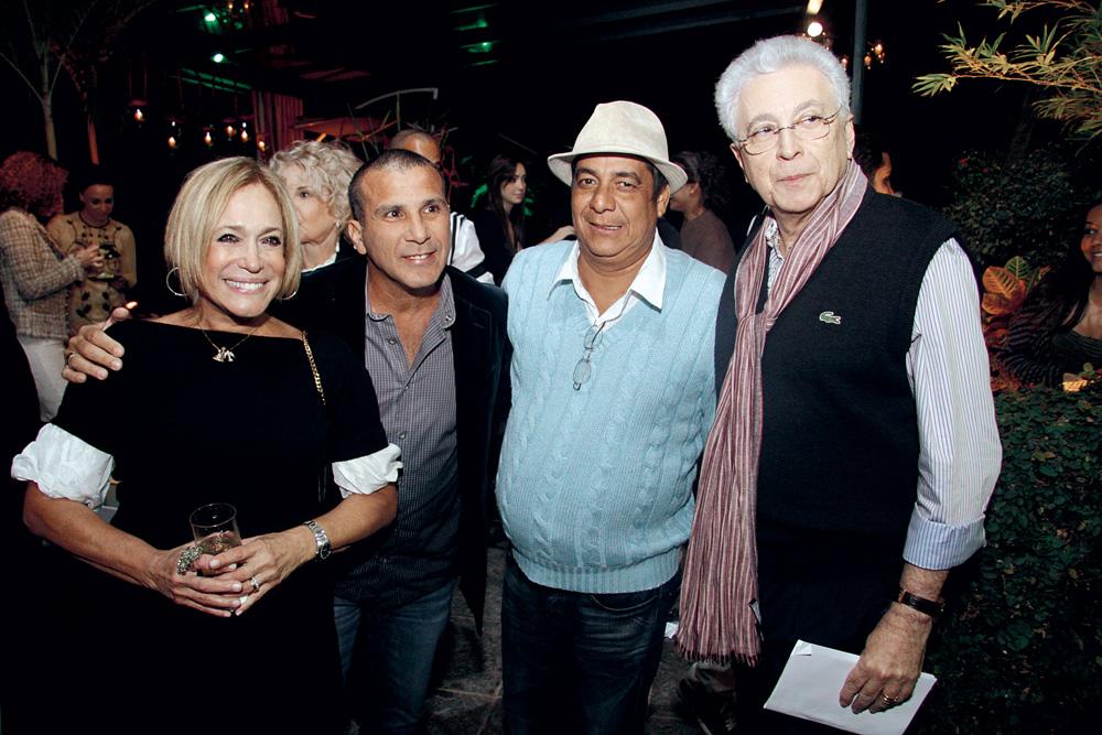 com Susana Vieira, Zeca Pagodinho e Agnaldo Silva