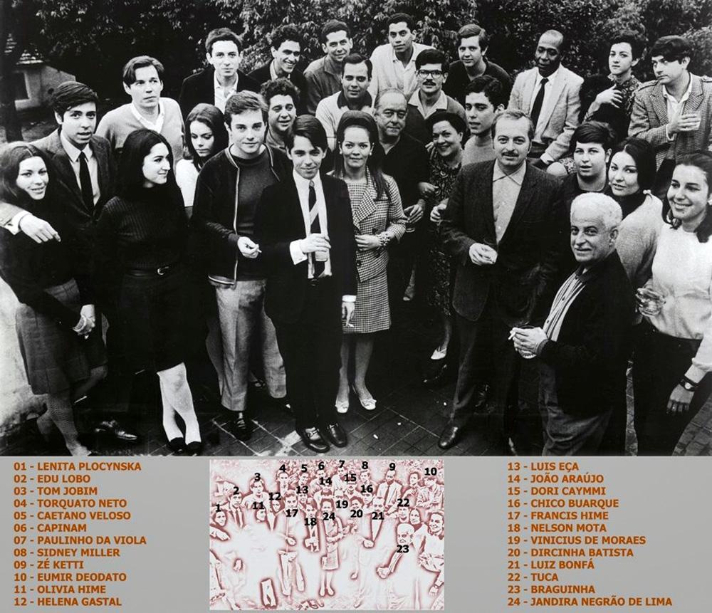 Nelson com o elenco da gravadora Philips em 1966: Edu Lobo, Tom Jobim, Torquato Neto, Paulinho da Viola, Eumir Deodato, Luiz Eça, Caetano Veloso, Luiz Bonfá, Braguinho e vários outros: 'Jamais entrei nessa de que jornalista precisa ser temido'
