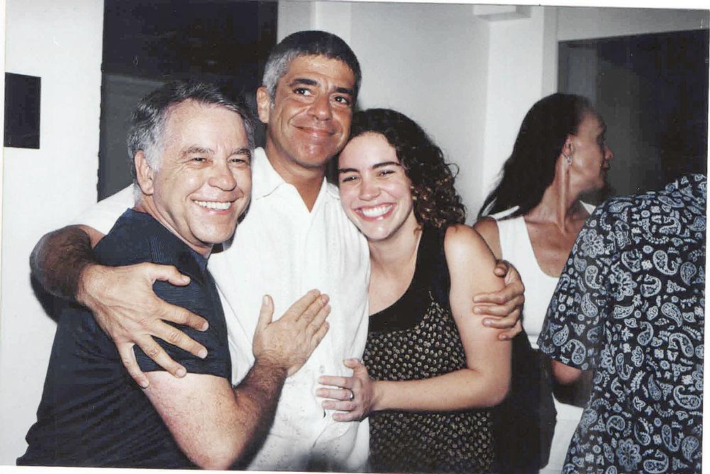 com Lulu Santos e a filha Nina