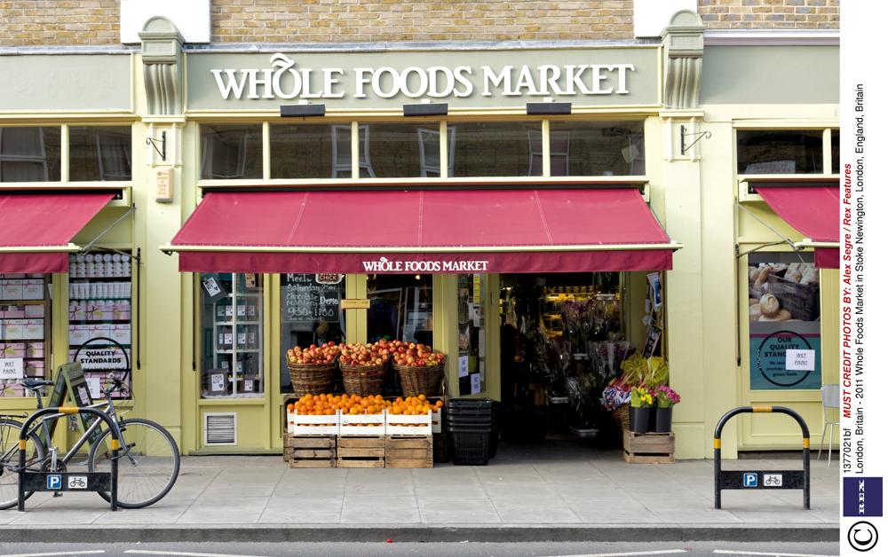 A fachada de uma loja Whole Foods em Londres