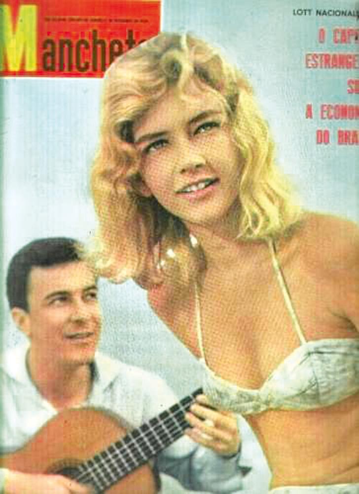 A capa da revista Manchete com Ira Etz e João Gilberto na capa