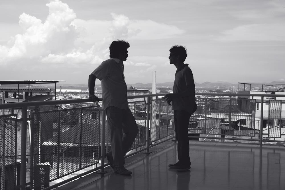 Caio Blat com o arquiteto Jorge Mario Jáuregui, autor do projeto do teleférico: em busca de uma reorganização urbana completa