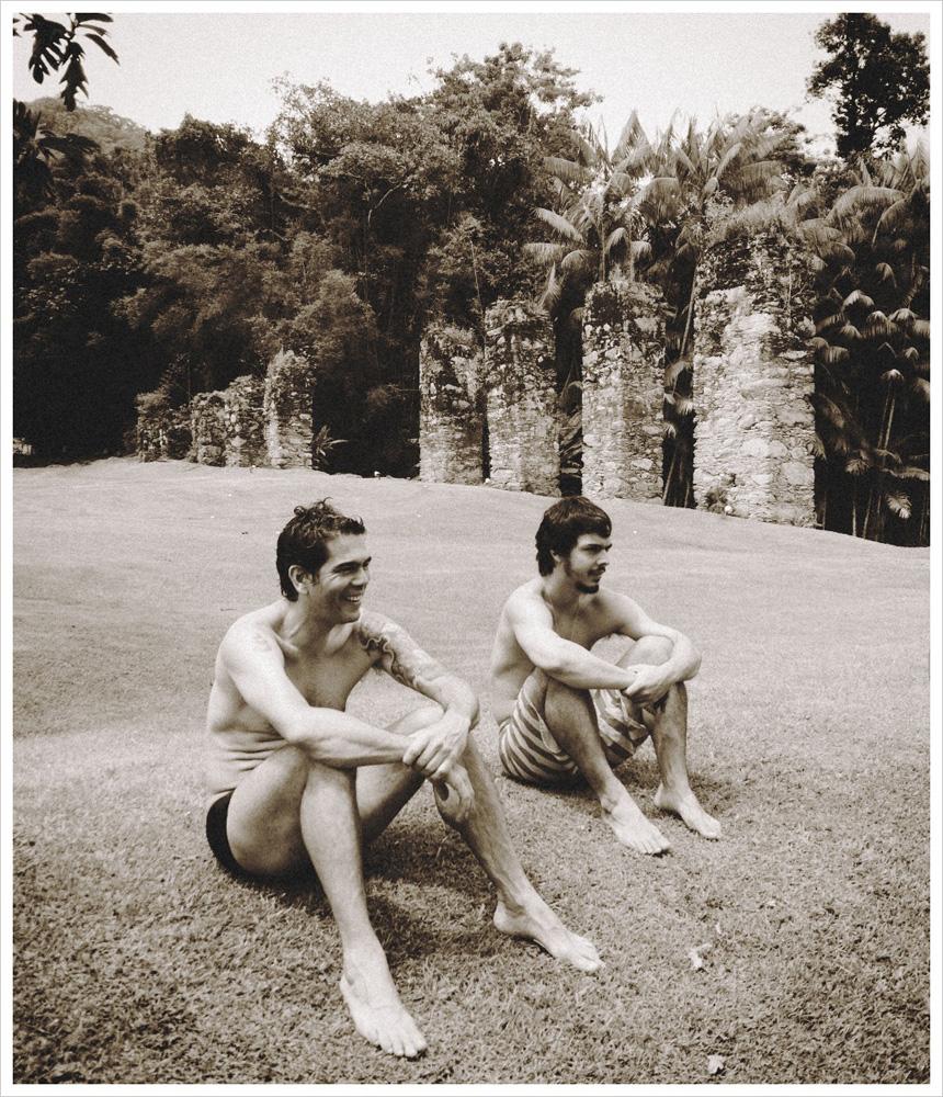 Em 2011, depois de jogar uma pelada em Angra com o pai