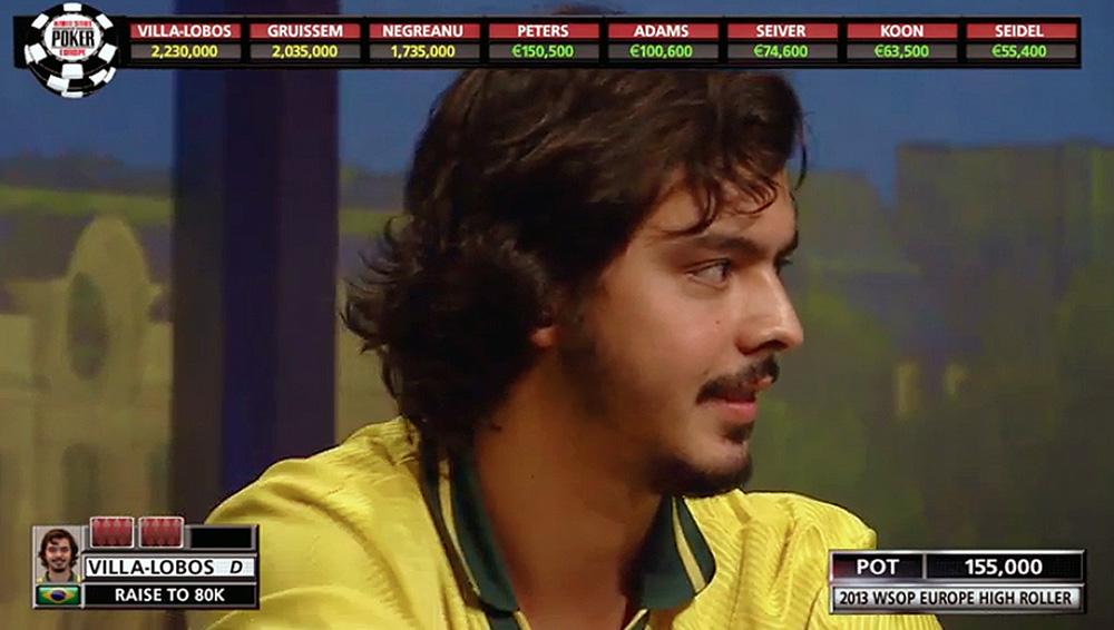 Nicolau no WSOPE, em Paris, no ano passado, quando perdeu apenas para Daniel Negreanu, eleito o jogador da década.