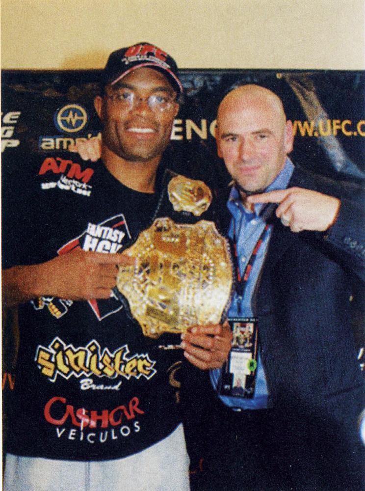 Com o presidente da UFC, Dana White