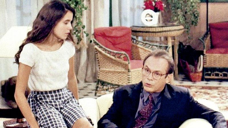 No papel da filha de José Wilker, em A Próxima Vítima, na TV Globo: