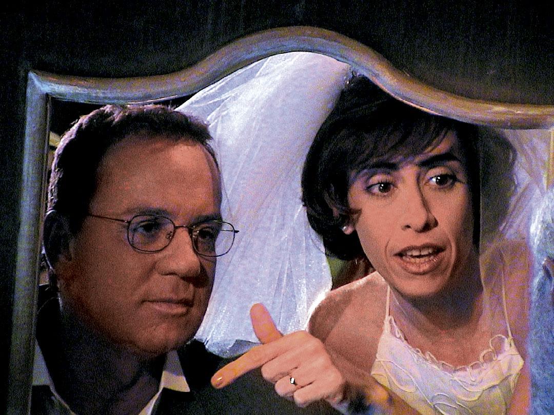 Em cena de Os Normais, com Luis Fernando Guimarães