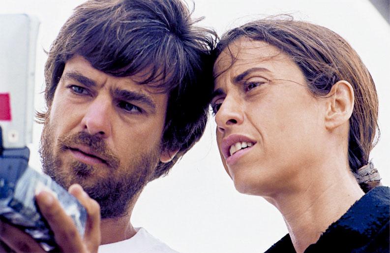 Com o marido Andrucha