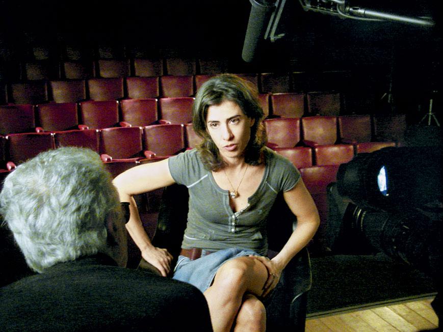Sendo entrevistada por Eduardo Coutinho em Jogo de cena (2007)