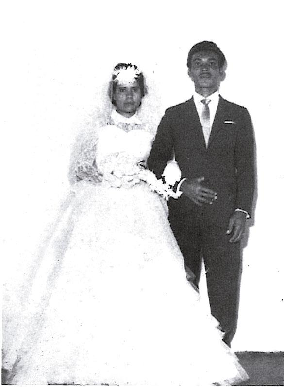 Casamento dos pais, dona Lita e seu Edevair, na igreja Dom Bosco, no Jacarezinho