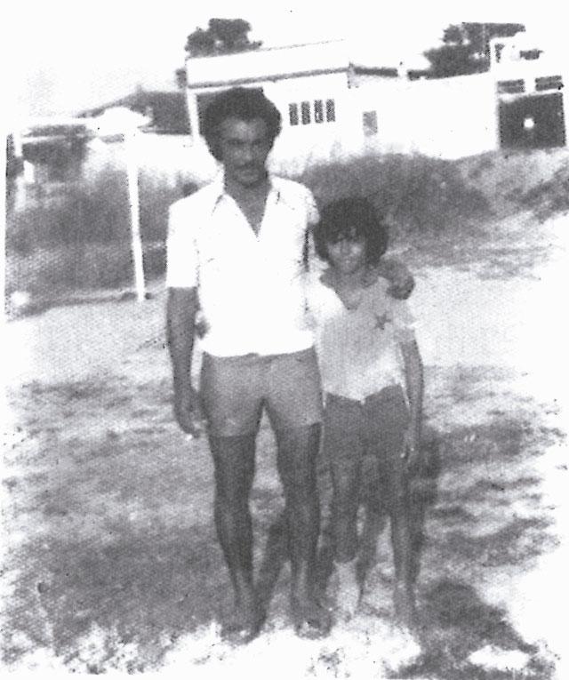 Com o pai, na várzea do Estrelinha