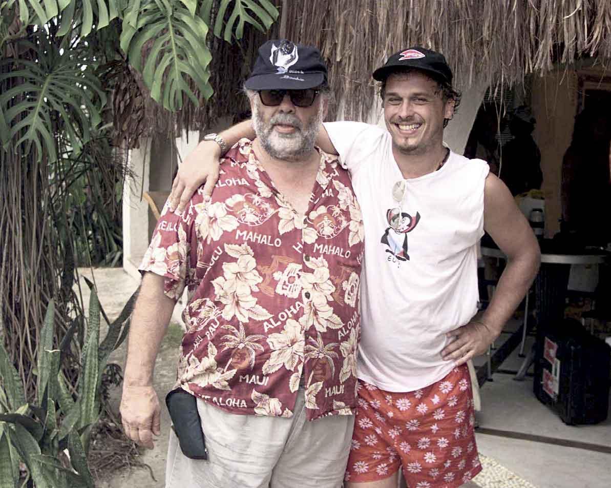 Com Coppola em Angra dos Reis, 1998
