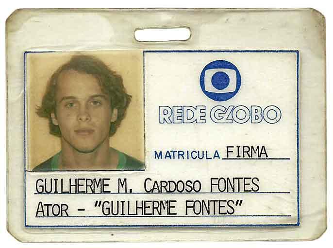 O primeiro crachá na Rede Globo