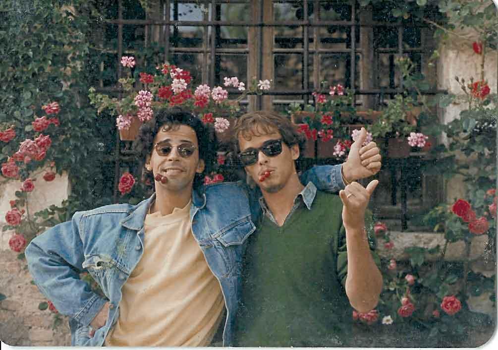 com Taumaturgo Ferreira, no Festival de Cannes em 1987