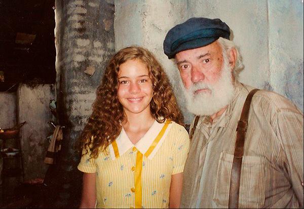 Com Fernando Torres no set de A Ostra e o Vento, ais 13 anos
