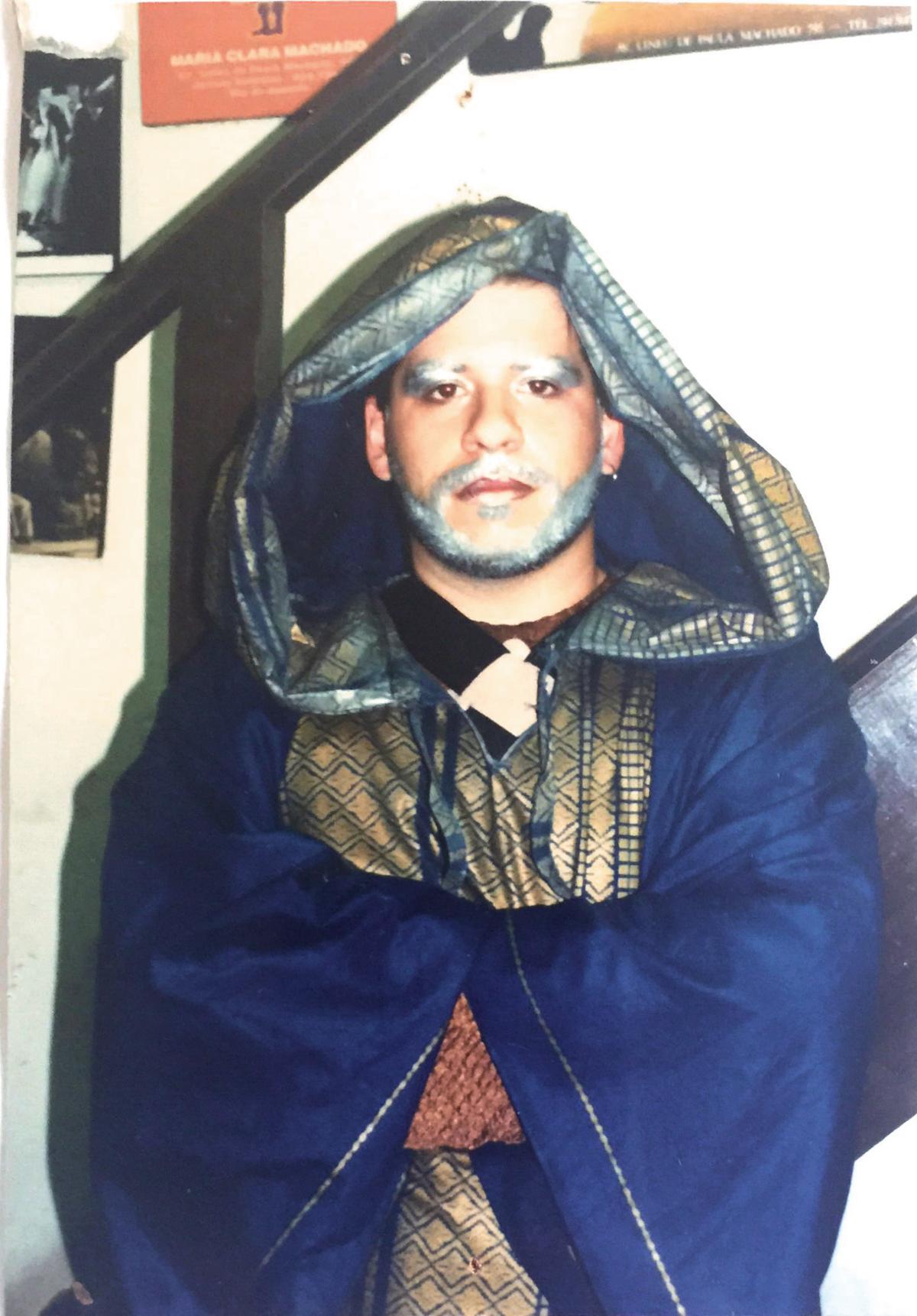 Leandro Hassum na peça 'Bela adormecida', de 1998